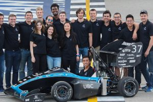 Formula UBC Racing team's 2018 Racecar
