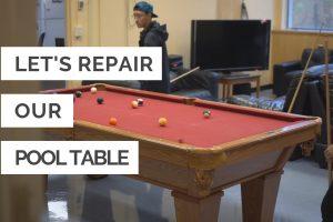 Help Us Repair the ECE Pool Table
